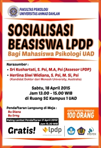 sosialisasi beasiswa LPDP fakultas psikologi