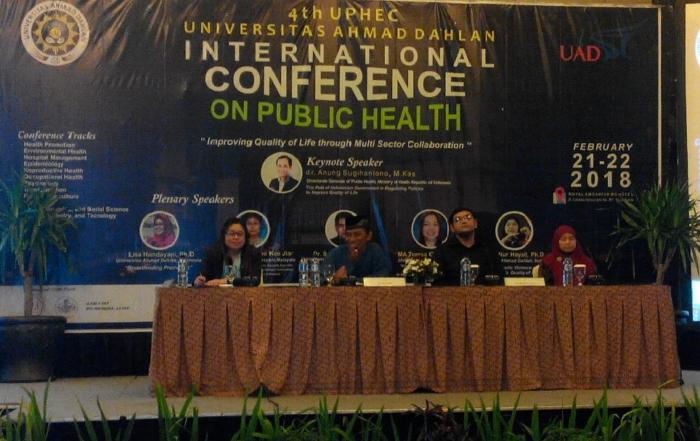 Fakultas Kesehatan Masyarakat dan Fakultas Psikologi UAD selenggarakan Seminar Internasional di Hotel Royal Ambarukmo