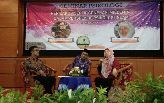 Seminar Perilaku Asertif Generasi Milennial dalam Perspektif Psikologi Islam